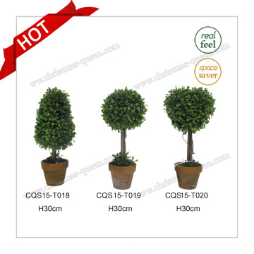 H30cm Party Decoration Multicolor Plastic Artificial Boxwood Plant Flower