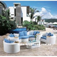 Weiße Farbe Sektionale Sofa Outdoor Gartenmöbel Bp-873A