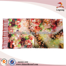 Lady pashmina newest design printed silk scarf