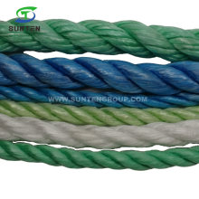 Colorful 3 Strand Twisted/Twist White PP/Polypropylene Splitfilm/Split Film Rope for Agriculture Packing