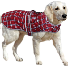British Plaid Dog Coats para cães médios e grandes