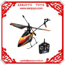 v911 rc helicóptero 2.4G 4CH de una cuchilla Gyro RC MINI exterior r / c helicóptero con LCD y 2 baterías v911 helicóptero