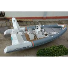 fiberglass boat RIB 6.8 meter rigid inflatable speed fishing boat