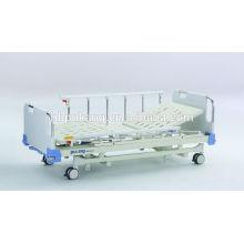 Lit d'hôpital manuel à trois fonctions avec tête de tête / pied en ABS