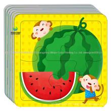 Custom Printing Fruit Jigsaw Paper Cardboard Puzzle