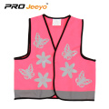 kids catoon safety pink reflective sports vest