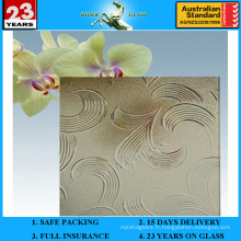 Verre à motifs en mayflower en bronze de 3 à 8 mm avec AS / NZS2208: 1996