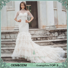 Sexy mermaid wedding dress wedding gown heavy lace fish wedding dress alibaba bridal gowns