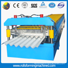Berwarna Logam Panel Corrugated Sheet Roll Forming Machine
