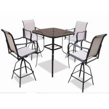 Outdoor Sling Möbel 5pc bar Satz - 2 * 1 textilene