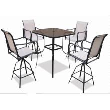Outdoor sling furniture 5pc bar set-2*1 textilene