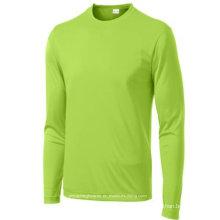 Tshirt running sem emenda dos homens longos de alta qualidade da luva
