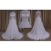 Sexy Fullly Beaded Bodice A Line Wedding Dress