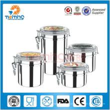 Conjuntos de recipiente hermético de aço inoxidável de cozinha de 5 polegadas