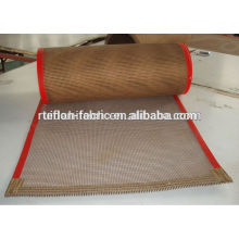 China Personalizada resistente al calor ptfe teflón recubierto de fibra de vidrio cinta transportadora de malla