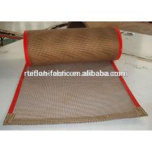 China Customized resistente ao calor ptfe teflon revestido de fibra de vidro cinto transportador de malha