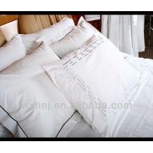 hôtel de luxe / maison solide broderie et avec oreiller de cordon bleu foncé