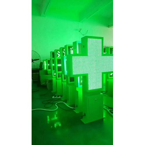 Pantalla LED cruzada lateral doble P10 de la farmacia