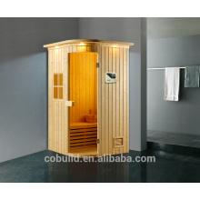 Sala de sauna K-718 hecha en Foshan Habitación para 2 personas pequeña, sala de sauna portátil de vapor