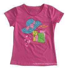 Flower Cap Girl camiseta en ropa para niños con estampado Sgt-075