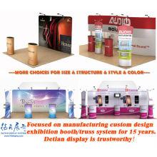 Conception modulaire démontable de stand d'exposition de salon commercial, stand d'exposition de pop up