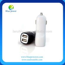 2.1A cargador de coche de doble puerto USB Cargador de coche rápido adaptador de auto viene con bolsa de teléfono celular libre de coches para el iPhone 6