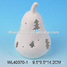White porcelain christmas ornament with led lighter