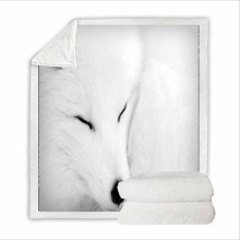 Super Soft Flannel Feelce Cover Blanket Bedding Set for Women with 3D Digital Printing Fox