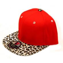 Nova 100% acrílico Leopard Brim Snapback Cap