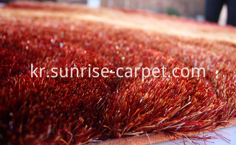 Polyester 3D Design with Red and Orange color