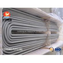 Acero inoxidable U curva tubo ASME SA213M-2013a TP317L