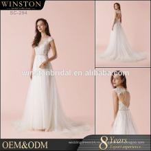 Горячий продавать хорошее качество 2017 новый стиль атласная свадебное платье