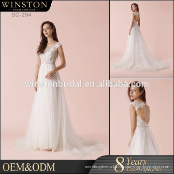 Hot Sell Good Quality 2017 New Style satin wedding dress