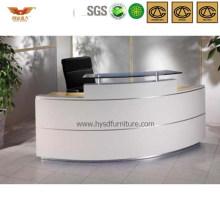Popular Curved Office Reception Desk Wooden Corner Desk (HY-Q30)