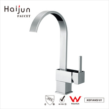 Haijun Wholesale Prices Contemporary Sqaure Polished Kitchen Sink Water Tap Faucet