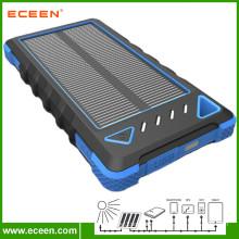 2017 wholesale price 8000mAh waterproof portable solar phone charger