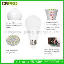 Ampoule LED en aluminium revêtue de plastique de haute qualité SMD5730 LED 9W