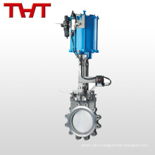 SS304 pneumatic big size actuated carbon steel flange knife gate valve