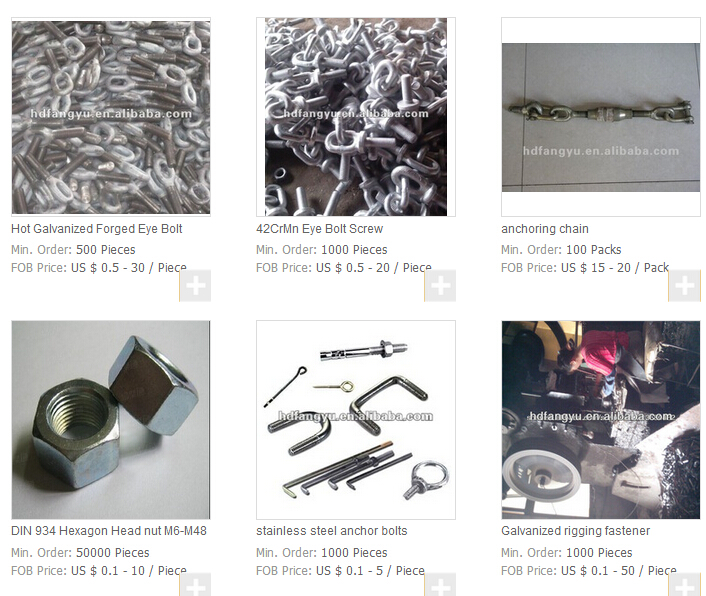 Galvanized forged fastener