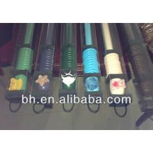 wood curtain rod kit,telescopic spray-painted blue color wood rod,curtain rods 2m