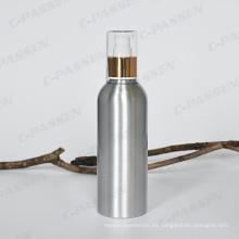 Botella cosmética de la loción de aluminio con la bomba de la loción de oro / de plata (PPC-ACB-002)