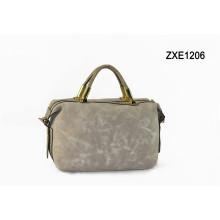 New Arrival Brand Name 2015 Grey Color Business Women Handbag PU Bag, Woman Handbag Zxe1206