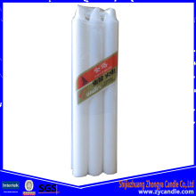 6 st Cellophane Package Wax White Candle