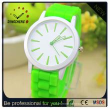 Reloj de silicona Ginebra, relojes de pulsera de gelatina, fabricación de relojes de China (DC-249)
