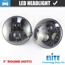7 pulgadas ronda haz semi sellado alto / bajo led Halo Ring faro jeep