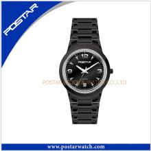Quartzo impermeável esporte homens relógio de pulso Quartzo aço inoxidável relógio preto