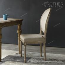 Housse de chaise rembourrée en tissu de bois courbé