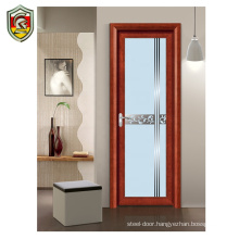 Modern home decorative interior aluminium frame waterproof bathroom door