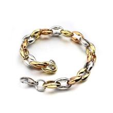 Factory price metal gold designer circle bracelet,mens gold curb bracelets jewelry