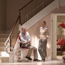 Elevador de asiento inclinado para silla de ruedas / Elevador de escalera curvada usado para personas discapacitadas